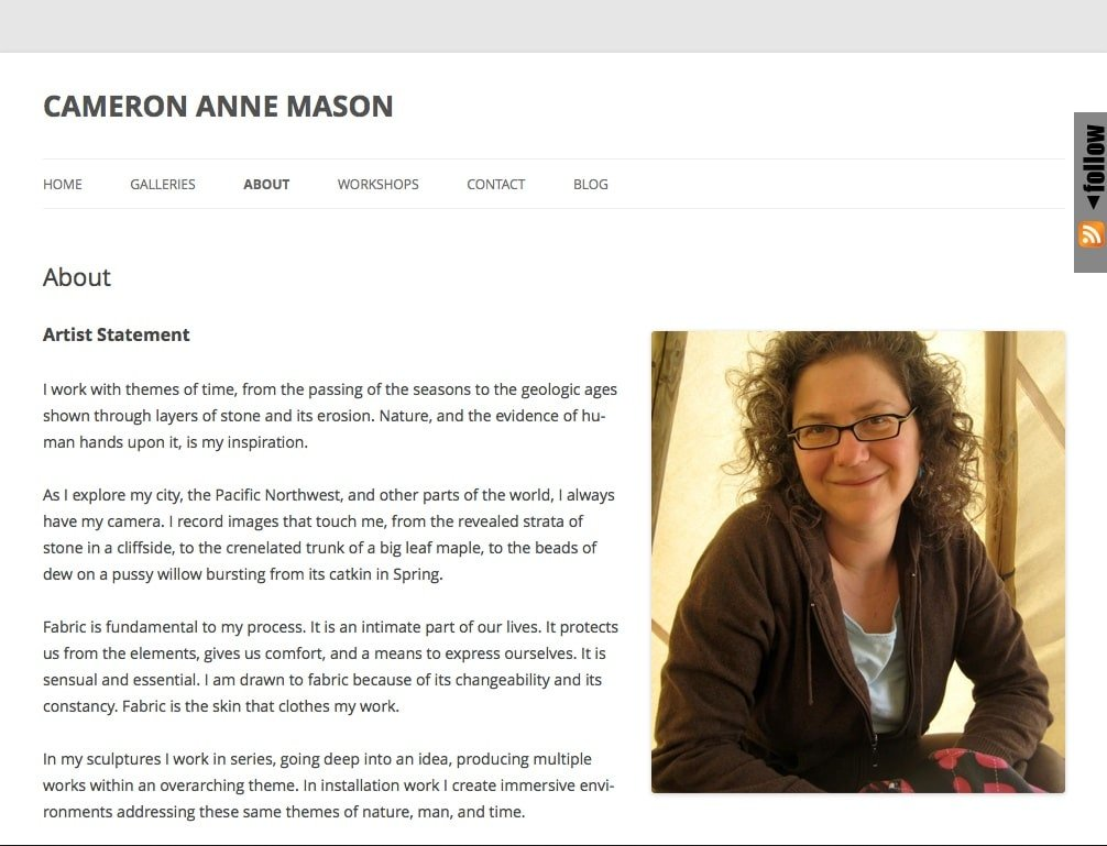 Cameron Anne Mason - Site Upgrade
