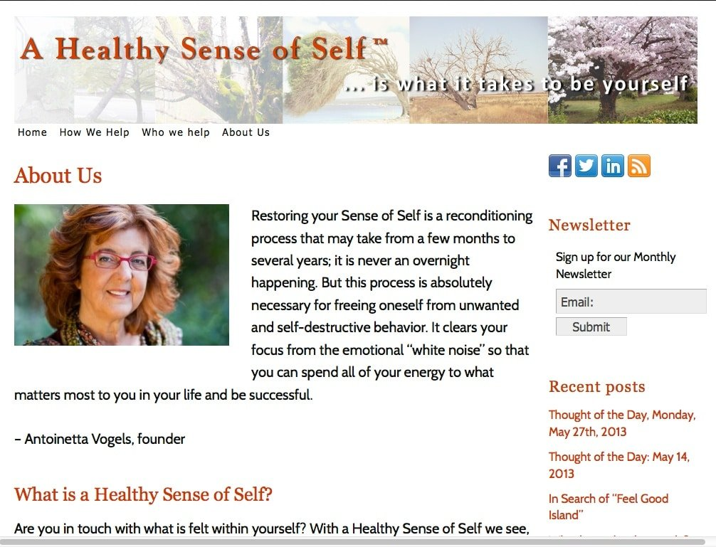 Healthy Sense of Self - Advanced Site