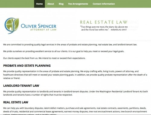 Oliver Spencer, Attorney - Standard Website