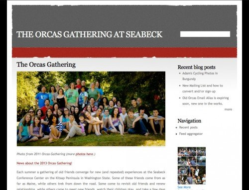 Orcas Gathering - Basic Website