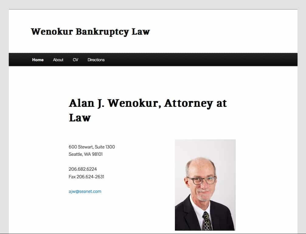 Wenokur Bankruptcy Law - Basic Website