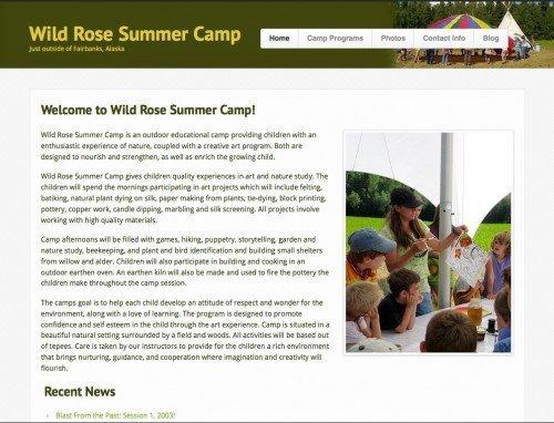 Wild Rose Summer Camp - Standard Website