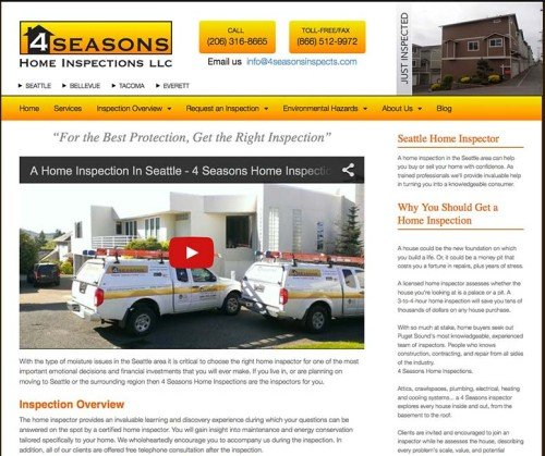 4 Seasons Home Inspections -- Advanced Site