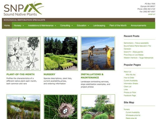 Sound Native Plants -- Advanced Site