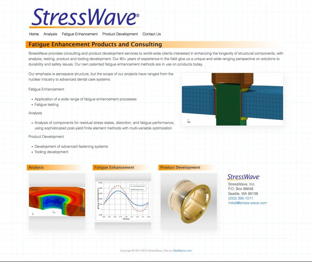 Stress-Wave® analyzes and analyzes metal fatigue in applications ranging from aerospace to orthodontics.