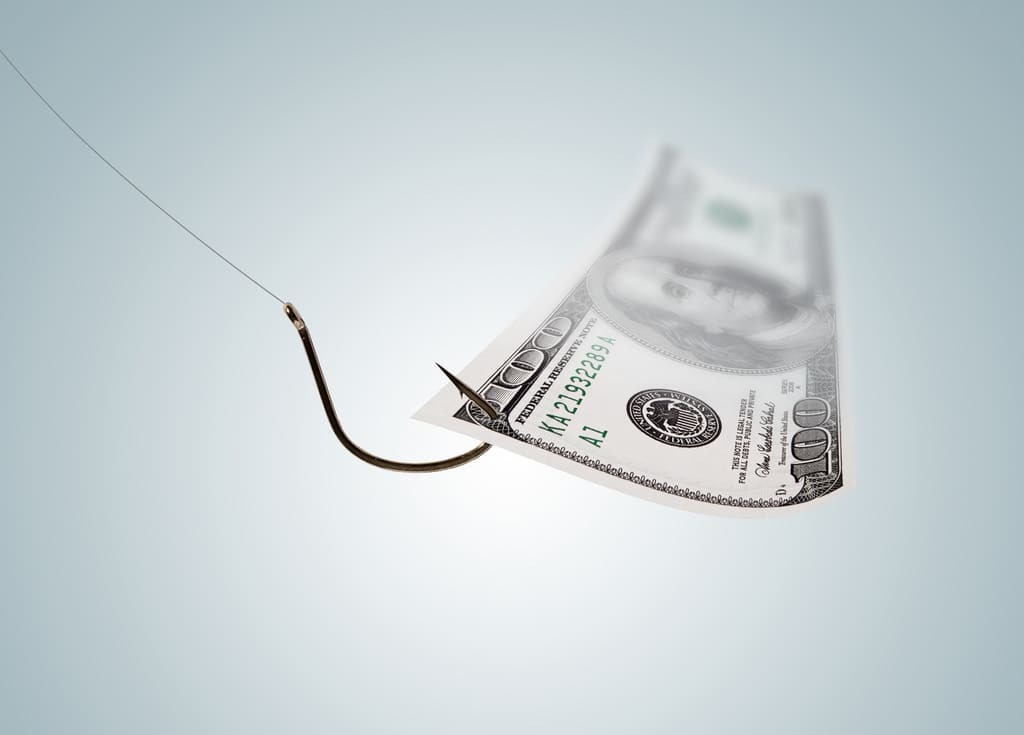 Money on a Hook photo by Flickr user