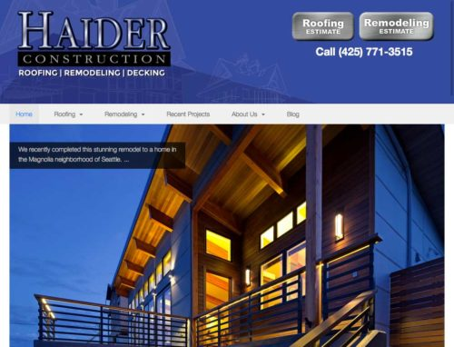 We updated Haider Construction with a responsive custom WordPress theme.
