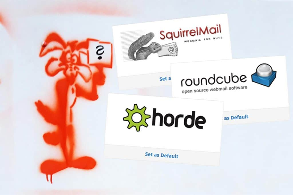 This post answers the question whether to use Horde, SquirrelMail, or RoundCube for webmail