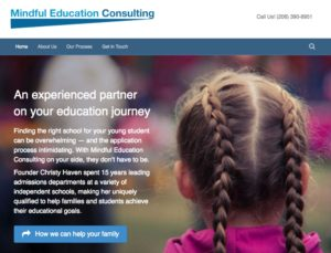 Christy Haven needed a new website for Mindful Education Consulting