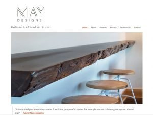 We rebuilt and then refined the Amy May Designs website