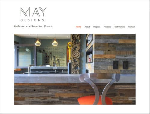 Screen shot of May Designs homepage