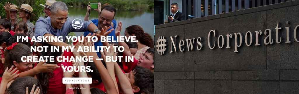 Both the Obama Foundation and News Corp Australia use WordPress