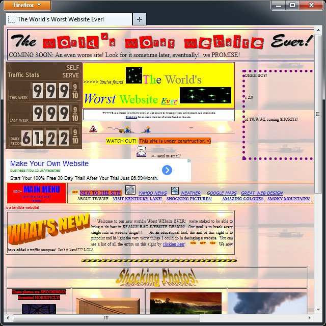 """World's Worst Website"" Photo by flickr user smoothgroover22"