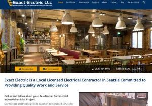We converted ExactElectric.com from hand-built HTML to WordPress